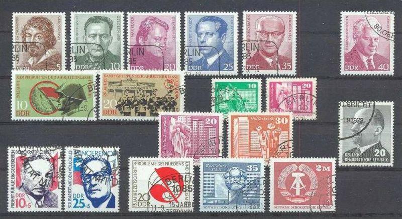 1973, Persönlichkeiten Satz 5 W 1815-19 gest., 1x 1855 gest.,
