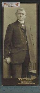 """Altes Foto auf PappeKarl Jacobs, Halberstadt """"Kaiserhaus""""Maße: 11,8 x 5 cmZustand: GutWir haben ständig alte"""