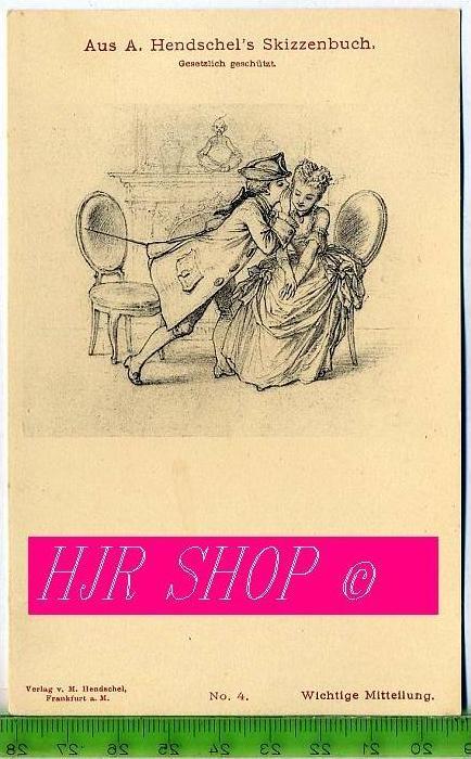 Aus A. Hendschel`s Skizzenbuch, Wichtige Mitteilung, Ungel.