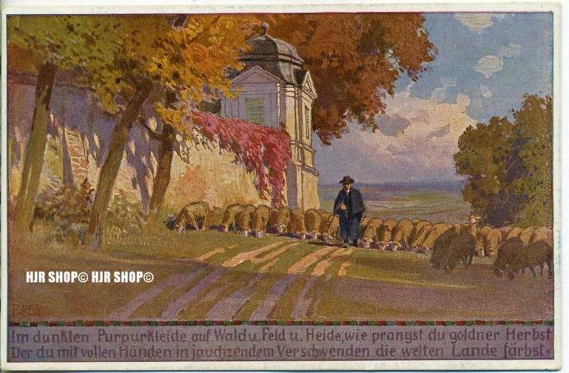 "um 1920/1930  Antsichtskarte,  ""Herbst, paul Hey Nr.2  "" ohne Frankatur, Stempel,"