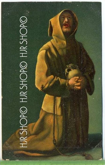 A Franciscan Monk-Zubaran, London  Verlag:  Stengel & Co., GmbH, Dresden, Postkarte, unbenutzte Karte