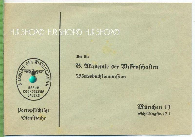 Unfrankierte Portopflichtige Dienstsache Unben Um 19301940