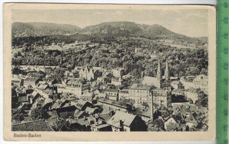 Baden – Baden 1918Verlag: FELD-  POST KARTEohne Frankatur  mit Stempel BADEN-BADEN 22.2.18   Erhaltung: I-II, Kart
