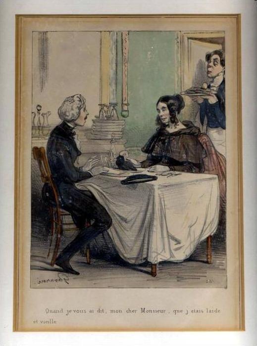 Paul Gavarni, Lithographie, Frankreich, 24 x 18 cm, Passpartu.