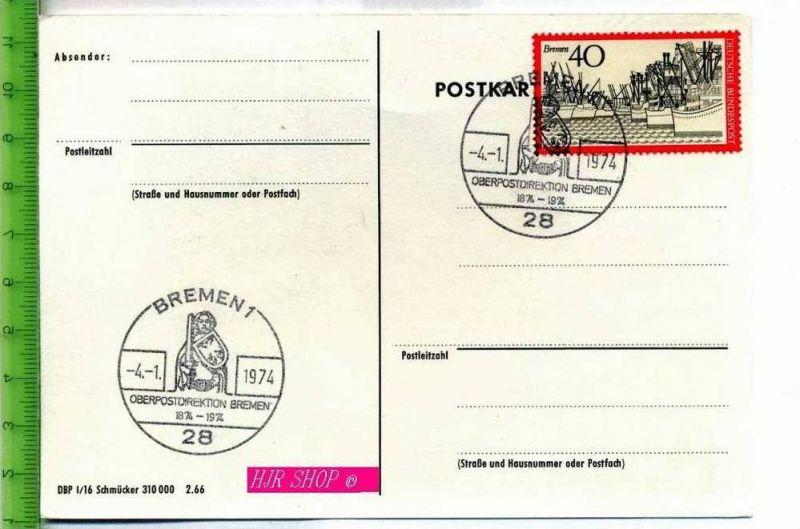 Bremen, Oberpostdirektion Bremen 4.01.1974