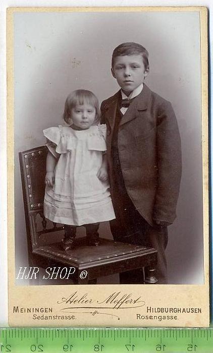 Fotographie, Atelier Meffert, Meiningen kl. Format, s/w, I-II,