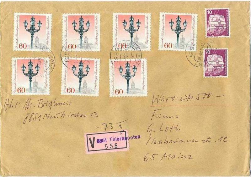 Wert-Brief, 24.06.1980, THIERHAUPTEN – MAINZ,