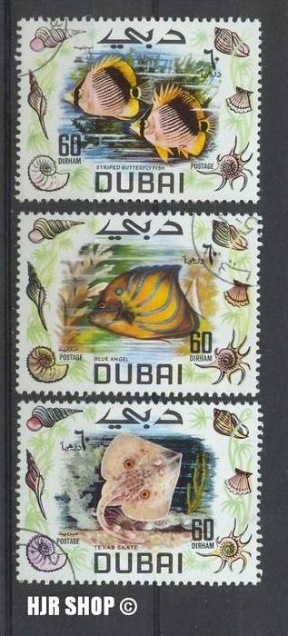 1969 Dubai, MiNr. 105-7, Gest. Zustand: Gut