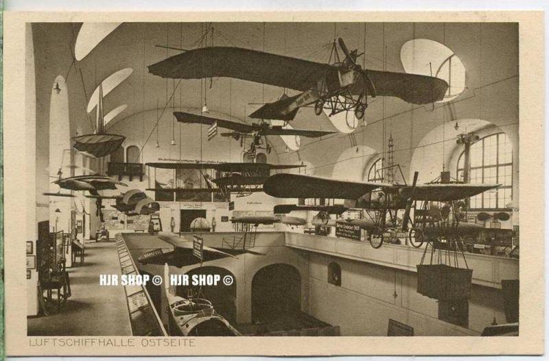 """um 1920/1930 Ansichtskarte  """"Deutsches Museum, Luftschiffhalle ,""""  ungebrauchte Karte"""