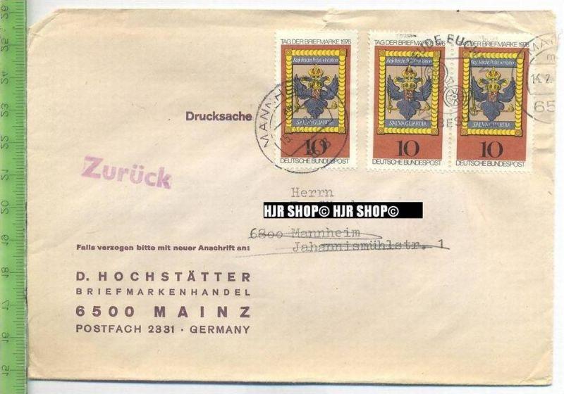 1976, Tag der Briefmarke, MiNr. 903 MeF x 3 Marken