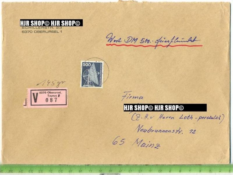 1975, Industrie, Minr.859 EF, Wertbrief