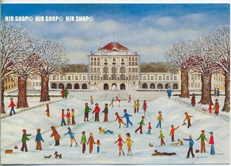 WIECHMANN – BILDKARTEN ULLA OTT, Eislauf vor Schloß Nymphenburg, Nr.5120