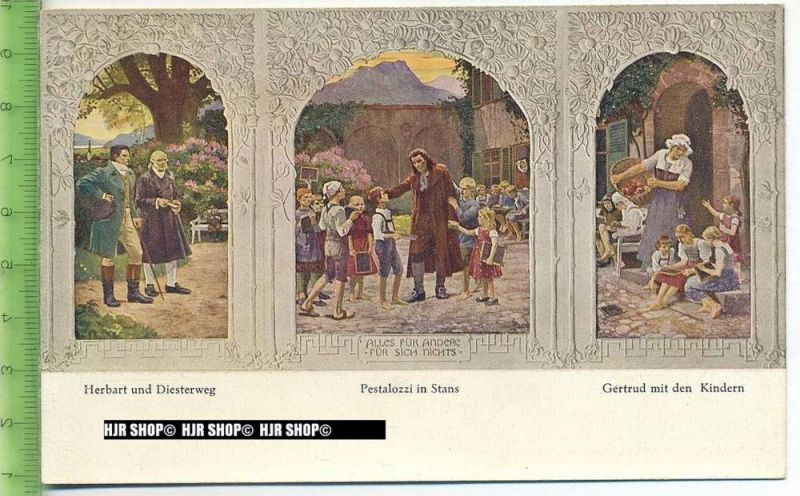 """""""Pestalozzi"""" um 1920/1930 ungebrauchte Karte"""