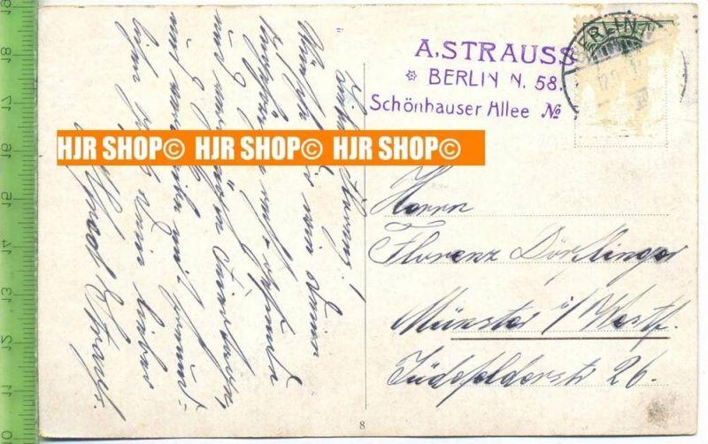 Karte von A. Strauss, Autograf,--- Dajos Béla's Orchestra, Voc. Alfred Strauß - Hören Sie zu! (Schlager ... (Google)