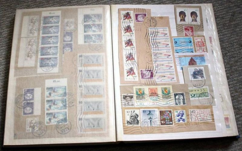 Briefstücke, Europa mit Marken und Stempel