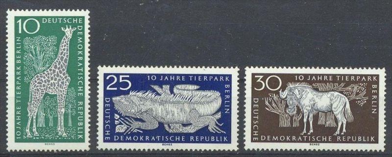 1965, MiNr. 1093 –1095 ** Satz 3 W  Zustand: I-II, (H)