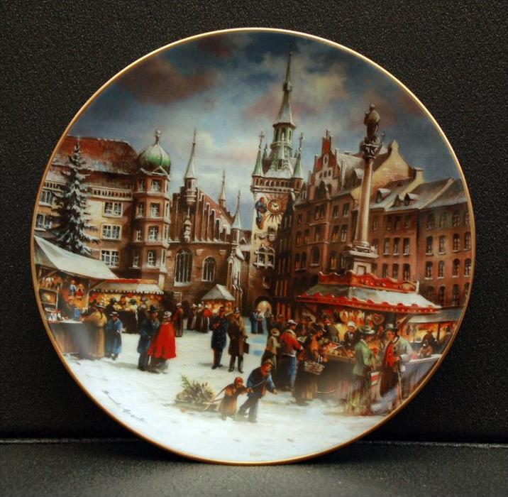 Sammelteller, Deutschland, Seltmann, Vohenstrauss Historische Sammlung deutscher Weihnachtsmärkte Künstler: Bernd Gagel