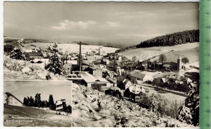 Wintersportplatz Tettau/Ofr. Um 1960/1970 Verlag: Sesselmann, Tettau/Ofr.,  POSTKARTE, kleines Loch von Reißzwecke Erhal