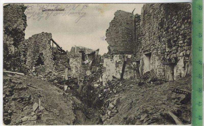 Grimancourt, 1917Verlag: Kurt Göckeritz, Großenhein FELD-POST KARTEohne Frankatur  mit Stempel 17.10.17Erhaltung: I-II,