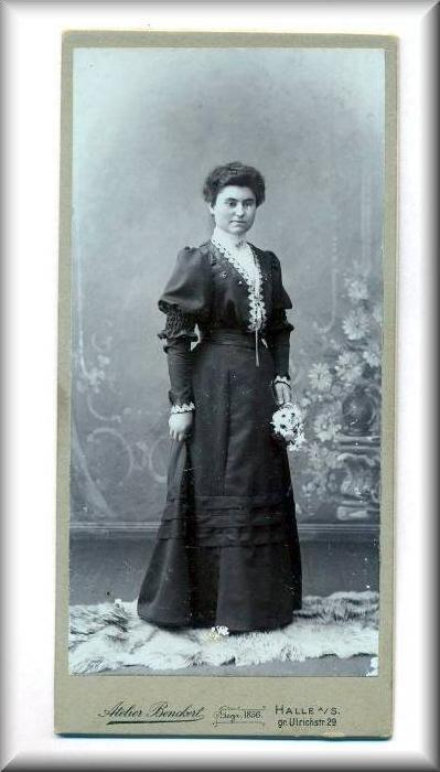 Damenfoto vor 1900