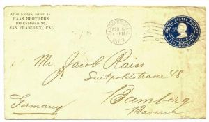 USA Cover 1907 San Francisco - Bamberg