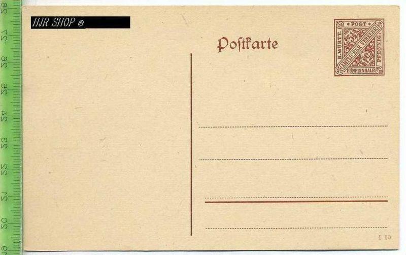 Postkarte, K. Württ. Amtlicher Verkehr  Ungel. Postfrisch, Fünfeinhalb Pfennig