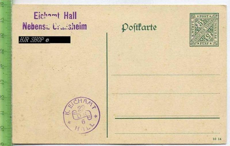 Postkarte, K. Württ. Amtlicher Verkehr  Ungel. Postfrisch, Fünf, Pfennig
