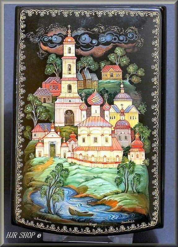 Russische Miniaturmalerei, etwas für den Spezialsammler Hergestellt in: KHOLUI, Titel:VASILIERSKOL, 20. Jhd.