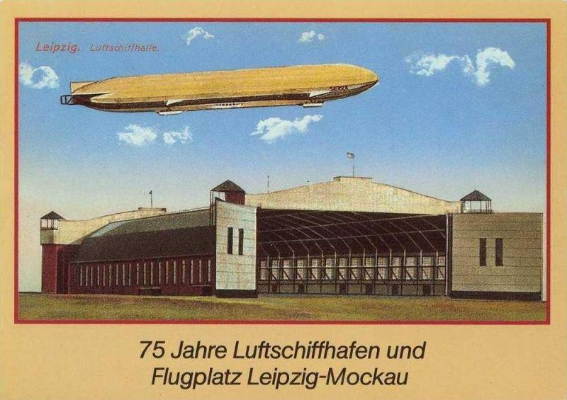 Ansichtskarte, Luftschiffhalle Leipzig, Repro.