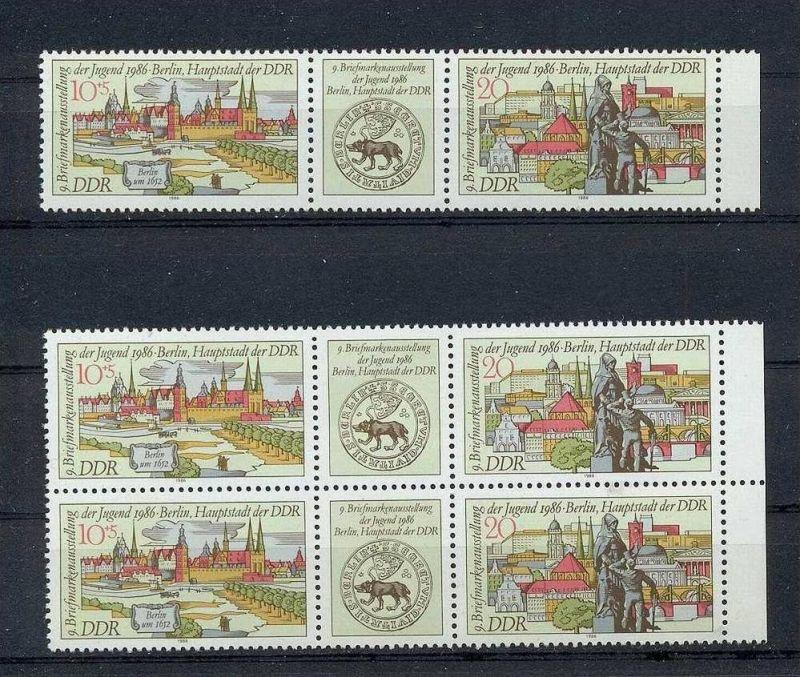 1986, 22. Juli. Briefmarkenausstellung der Jugend, Berlin. 3030-3031**