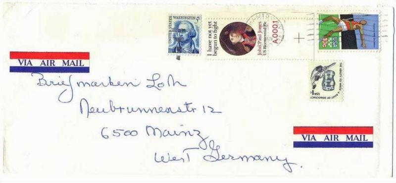 01. Jan. 1980 Brief, USA- Mainz, Airmail