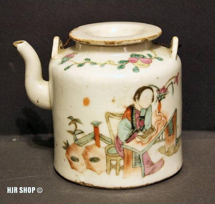Chinesische Teekanne im Korb, 18./19. Jh.