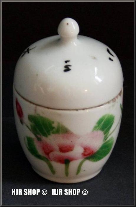 China-Porzellan-Deckelgefäß, Porzellanmalerei, 19. JH.