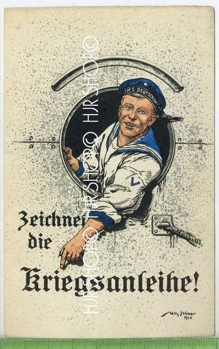Zeichnet die Kriegsanleihe um 1910/1920  Verlag: heymann & Schmidt AG Berlin  POSTKARTE ,  unbenutzte Karte