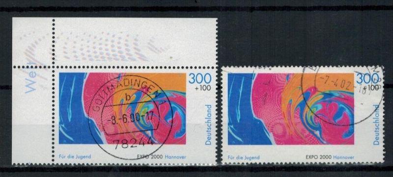 2000 , MiNr. 2122 o, 1x2122 o mit Randstreifen   Zustand: I-II