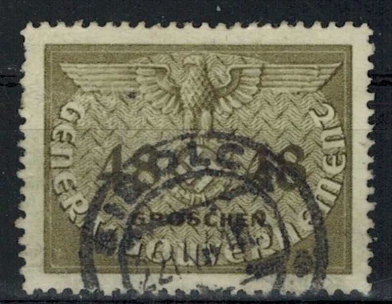 1940, Generalgouvernement, MiNr. 9 o, 48 Gr. Zustand: I-II