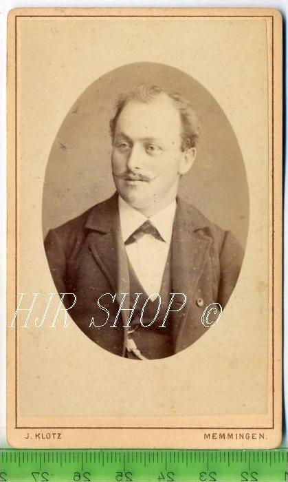 J. Klotz, Memmingen vor 1900 kl.. Format, s/w., I-II,