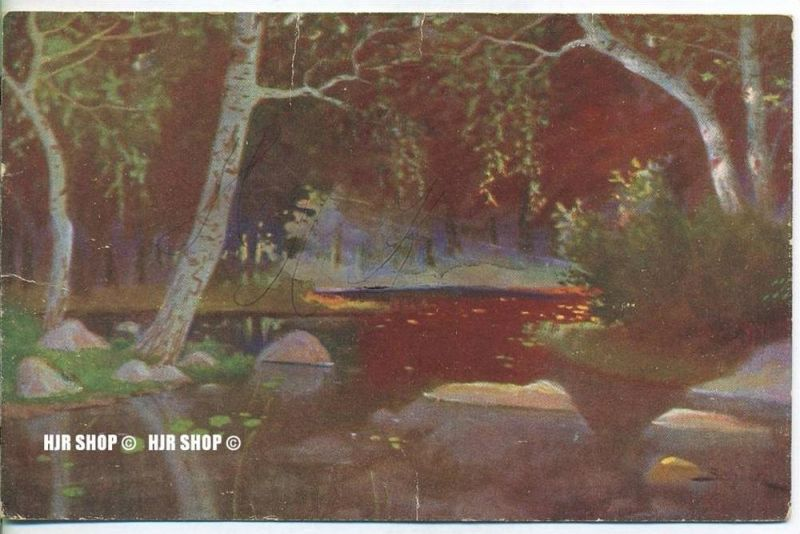 """um 1910/1920 Ansichtskarte, FELDPOST """" Landschaft"""" mit Stempel"""