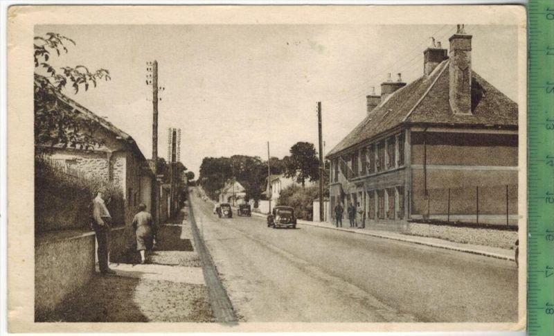 ILA QUEUE-les-YVELINES, Route nationale-La Gendarmerie Verlag: M. Aube, Postkarteohne Frankatur  ohne  Stempel, MIT BEFÖ