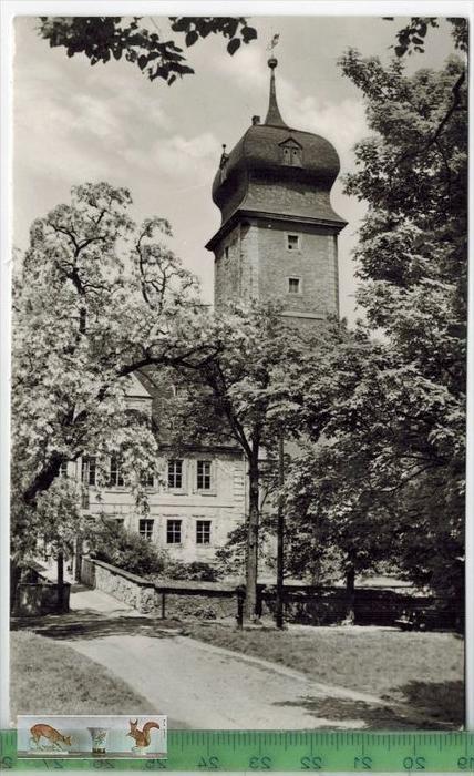 Delitzsch, Schhloß-1963  - Verlag: VEB Bild u. Heimat, POSTKARTEmit Frankatur, mit  Stempel DELITZSCH 9.8.63    Erhaltun