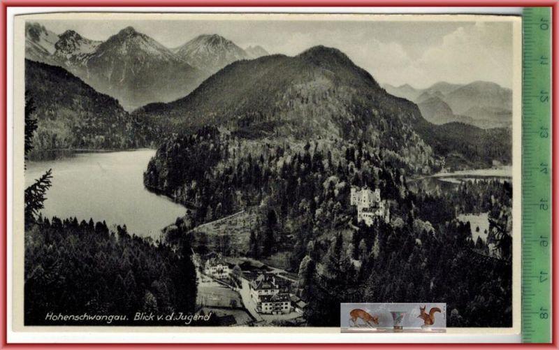 Hohenschwangau. Blick v.d. JugendVerlag: Oskar Glink, Kempten, POSTKARTEErhaltung: I-II, Karte wird in Klarsichthülle ve