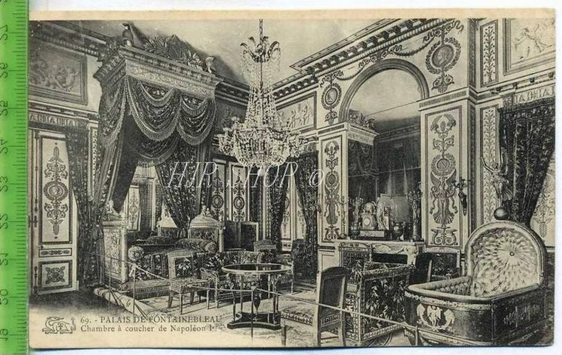 Fontainebleau. Chambre à coucher de Napolèon 1er. Gel. 1906/ Nr ...