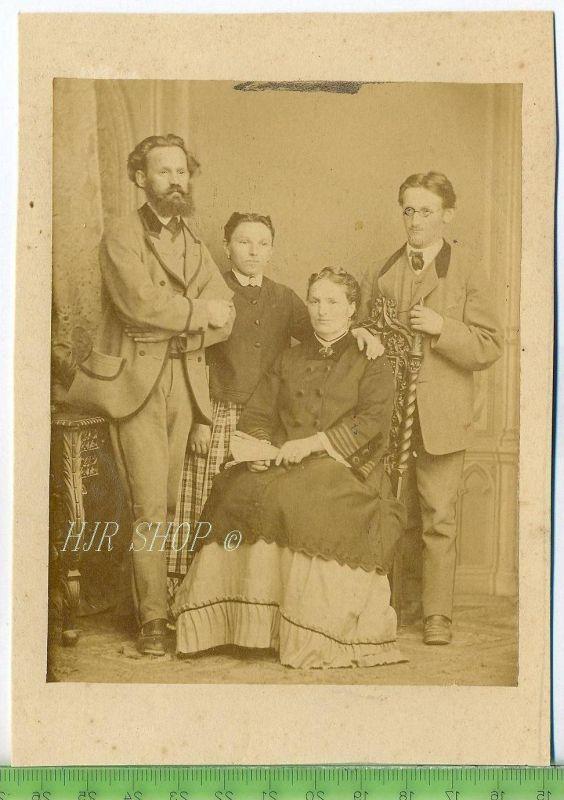 Familienfoto vor 1900 Gr.. Format, s/w., I-II,