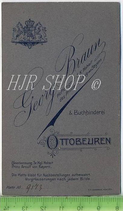 G. Braun, Ottobeuren vor 1900 kl.. Format, s/w., I-II 1