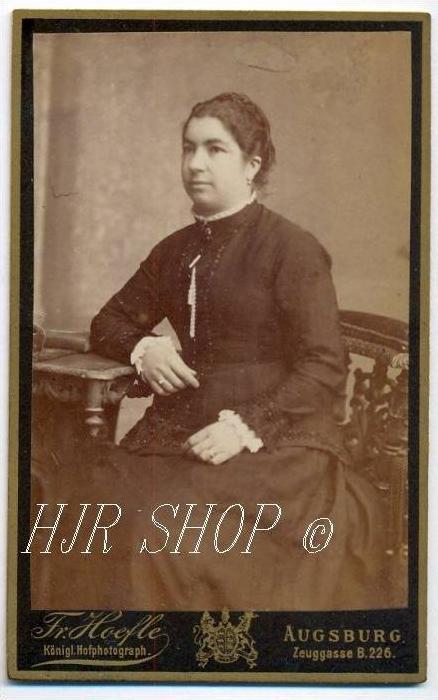 Fr. Hoefle, Augsburg vor 1900 kl.. Format, s/w., I-II,
