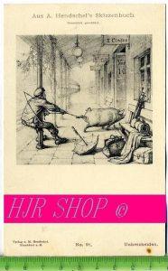Aus A. Hendschel`s Skizzenbuch, Unbescheiden, Ungel.