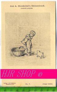 Aus A. Hendschel`s Skizzenbuch, Junge Liebe, Ungel.