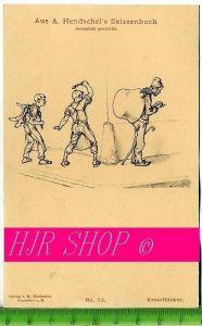 Aus A. Hendschel`s Skizzenbuch, Kesselflicker, Ungel.