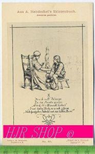 """Aus A. Hendschel`s Skizzenbuch, """"Därf ih`s Dirndl liabn?"""" II., Ungel."""
