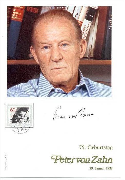 Peter von Zahn 75. Geburtstag, 29. Januar 1988